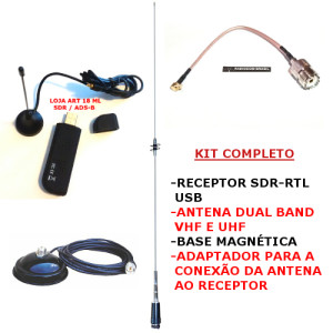 KIT SDR + ANTENA DUAL BAND